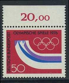 BUND 1976 Michel-Nummer 0875 postfrisch EINZELMARKE RAND oben (c)