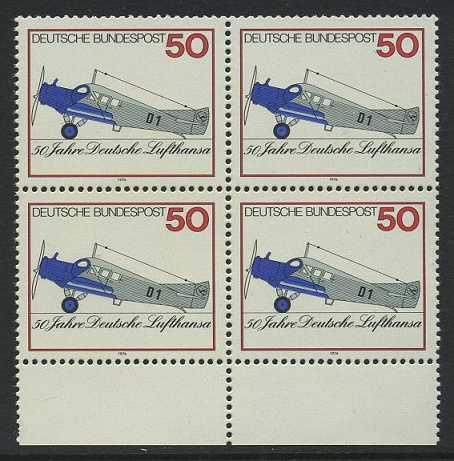 BUND 1976 Michel-Nummer 0878 postfrisch BLOCK RÄNDER unten
