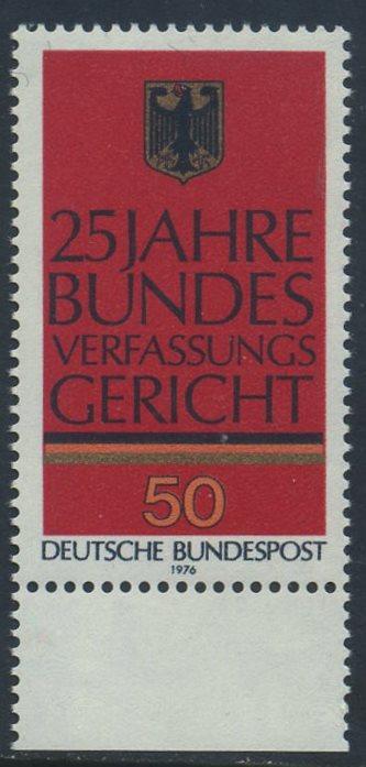BUND 1976 Michel-Nummer 0879 postfrisch EINZELMARKE RAND unten