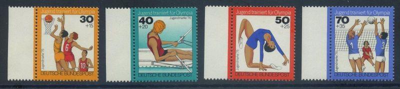 BUND 1976 Michel-Nummer 0882-0885 postfrisch SATZ(4) EINZELMARKEN RÄNDER links