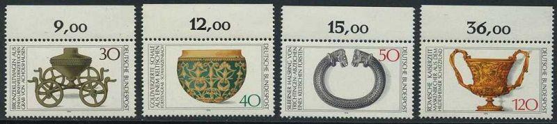 BUND 1976 Michel-Nummer 0897-0900 postfrisch SATZ(4) EINZELMARKEN RÄNDER oben (b)
