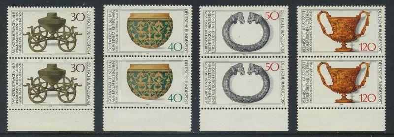 BUND 1976 Michel-Nummer 0897-0900 postfrisch SATZ(4) vert.PAARE RÄNDER unten