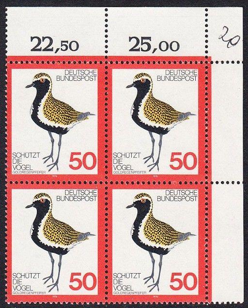 BUND 1976 Michel-Nummer 0901 postfrisch BLOCK ECKRAND oben rechts