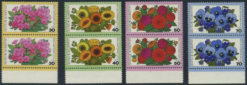 BUND 1976 Michel-Nummer 0904-0907 postfrisch SATZ(4) vert.PAARE RÄNDER unten