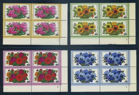 BUND 1976 Michel-Nummer 0904-0907 postfrisch SATZ(4) BLÖCKE ECKRAND unten rechts (FN)