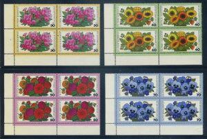 BUND 1976 Michel-Nummer 0904-0907 postfrisch SATZ(4) BLÖCKE ECKRAND unten links