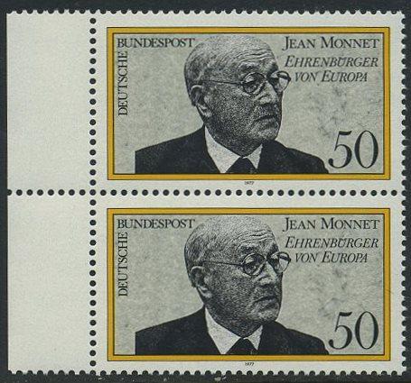 BUND 1977 Michel-Nummer 0926 postfrisch vert.PAAR RAND links