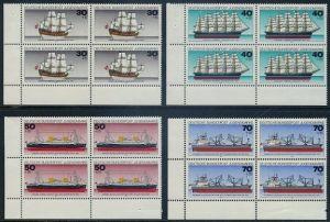 BUND 1977 Michel-Nummer 0929-0932 postfrisch SATZ(4) BLÖCKE ECKRAND unten links