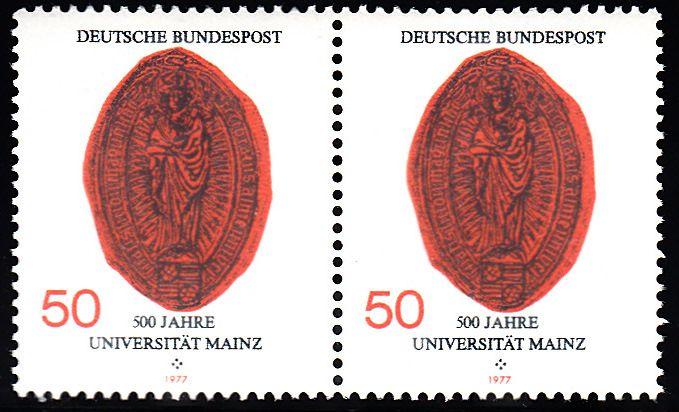 BUND 1977 Michel-Nummer 0938 postfrisch horiz.PAAR