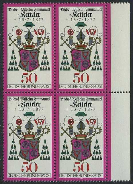 BUND 1977 Michel-Nummer 0941 postfrisch BLOCK RÄNDER rechts