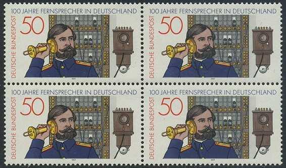BUND 1977 Michel-Nummer 0947 postfrisch BLOCK