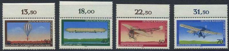 BUND 1978 Michel-Nummer 0964-0967 postfrisch SATZ(4) EINZELMARKEN RÄNDER oben