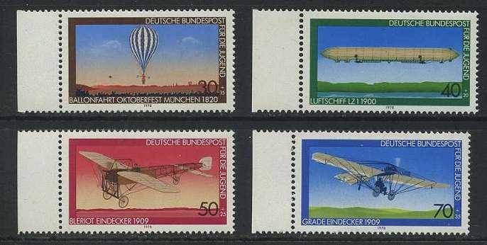 BUND 1978 Michel-Nummer 0964-0967 postfrisch SATZ(4) EINZELMARKEN RÄNDER links