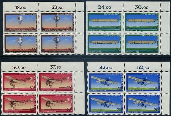 BUND 1978 Michel-Nummer 0964-0967 postfrisch SATZ(4) BLÖCKE ECKRAND oben rechts