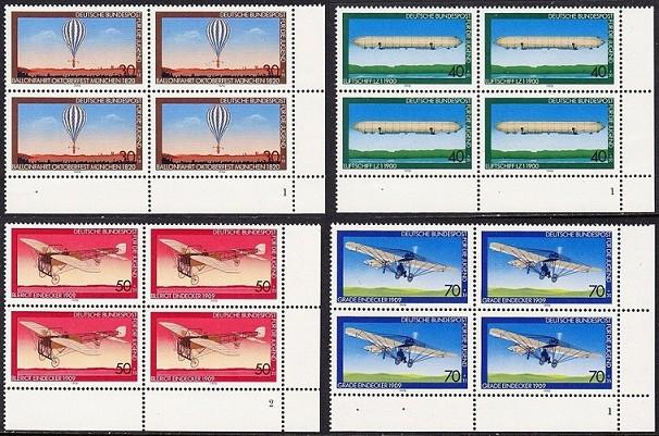 BUND 1978 Michel-Nummer 0964-0967 postfrisch SATZ(4) BLÖCKE ECKRAND unten rechts (FN)