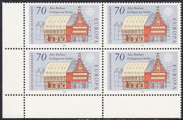 BUND 1978 Michel-Nummer 0971 postfrisch BLOCK ECKRAND unten links