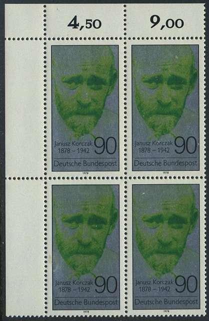 BUND 1978 Michel-Nummer 0973 postfrisch BLOCK ECKRAND oben links