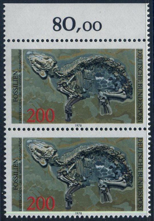 BUND 1978 Michel-Nummer 0975 postfrisch vert.PAAR RAND oben