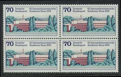 BUND 1978 Michel-Nummer 0976 postfrisch BLOCK