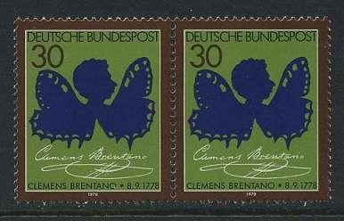 BUND 1978 Michel-Nummer 0978 postfrisch horiz.PAAR
