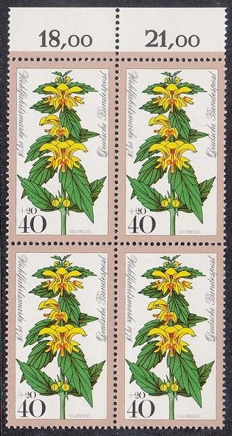BUND 1978 Michel-Nummer 0983 postfrisch BLOCK RÄNDER oben