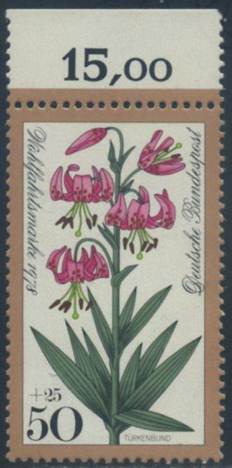 BUND 1978 Michel-Nummer 0984 postfrisch EINZELMARKE RAND oben