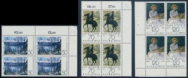 BUND 1978 Michel-Nummer 0986-0988 postfrisch SATZ(3) BLÖCKE (a1)