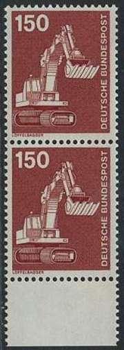 BUND 1978 Michel-Nummer 0992 postfrisch vert.PAAR RAND unten