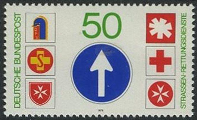 BUND 1979 Michel-Nummer 1004 postfrisch EINZELMARKE