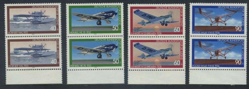 BUND 1979 Michel-Nummer 1005-1008 postfrisch SATZ(4) vert.PAARE RÄNDER unten