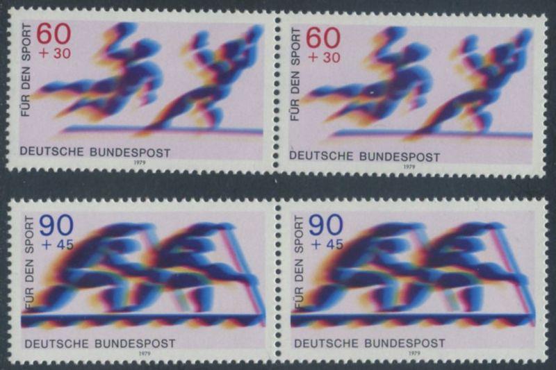 BUND 1979 Michel-Nummer 1009-1010 postfrisch SATZ(2) horiz.PAARE