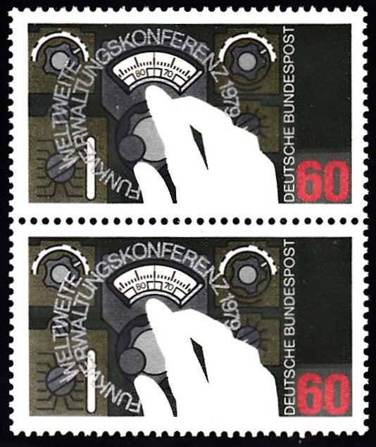 BUND 1979 Michel-Nummer 1015 postfrisch vert.PAAR