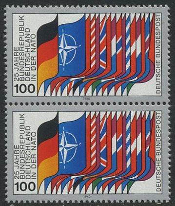 BUND 1980 Michel-Nummer 1034 postfrisch vert.PAAR