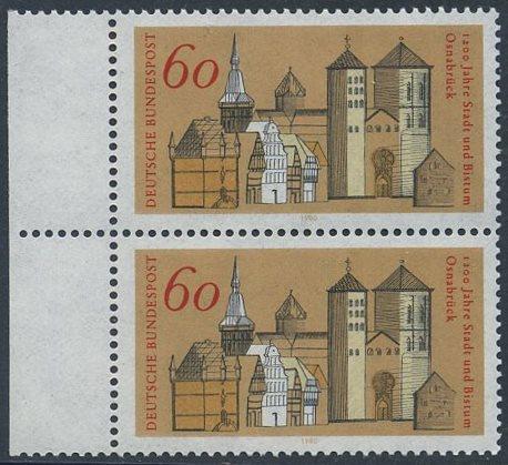 BUND 1980 Michel-Nummer 1035 postfrisch vert.PAAR RAND links