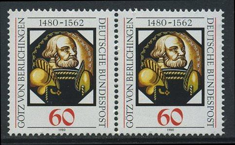 BUND 1980 Michel-Nummer 1036 postfrisch horiz.PAAR