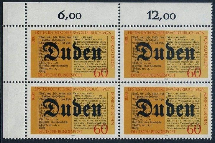 BUND 1980 Michel-Nummer 1039 postfrisch BLOCK ECKRAND oben links