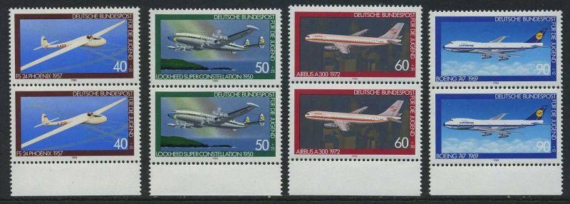 BUND 1980 Michel-Nummer 1040-1043 postfrisch SATZ(4) vert.PAARE RÄNDER unten