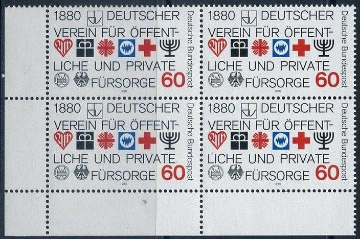 BUND 1980 Michel-Nummer 1044 postfrisch BLOCK ECKRAND unten links