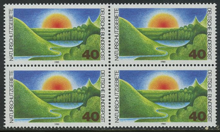 BUND 1980 Michel-Nummer 1052 postfrisch BLOCK
