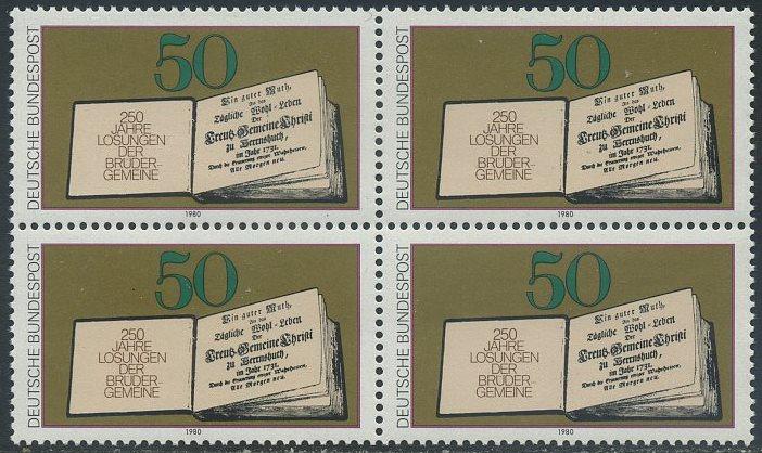 BUND 1980 Michel-Nummer 1054 postfrisch BLOCK