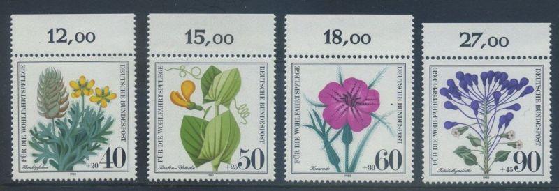 BUND 1980 Michel-Nummer 1059-1062 postfrisch SATZ(4) EINZELMARKEN RÄNDER oben