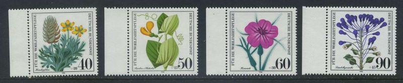 BUND 1980 Michel-Nummer 1059-1062 postfrisch SATZ(4) EINZELMARKEN RÄNDER links