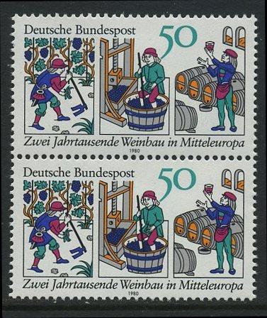 BUND 1980 Michel-Nummer 1063 postfrisch vert.PAAR