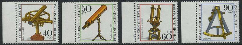 BUND 1981 Michel-Nummer 1090-1093 postfrisch SATZ(4) EINZELMARKEN RÄNDER links