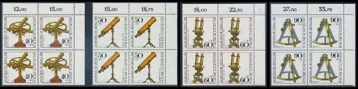 BUND 1981 Michel-Nummer 1090-1093 postfrisch SATZ(4) BLÖCKE ECKRAND oben rechts