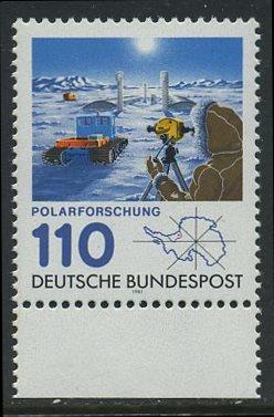 BUND 1981 Michel-Nummer 1100 postfrisch EINZELMARKE RAND unten