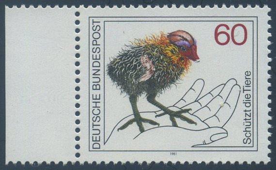 BUND 1981 Michel-Nummer 1102 postfrisch EINZELMARKE RAND links