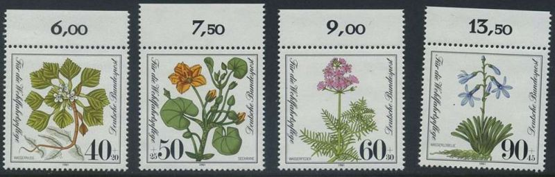 BUND 1981 Michel-Nummer 1108-1111 postfrisch SATZ(4) EINZELMARKEN RÄNDER oben