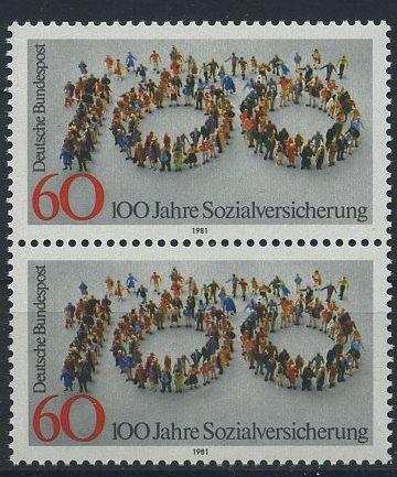 BUND 1981 Michel-Nummer 1116 postfrisch vert.PAAR