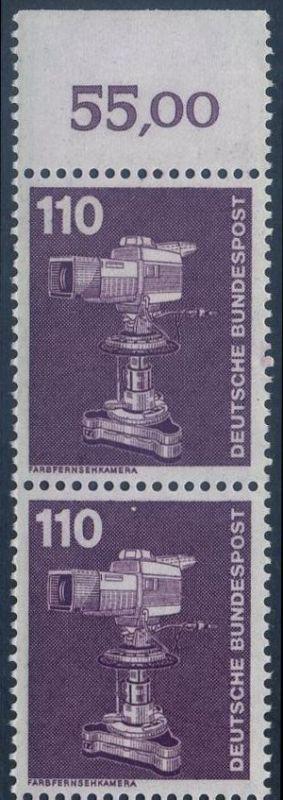 BUND 1982 Michel-Nummer 1134 postfrisch vert.PAAR RAND oben